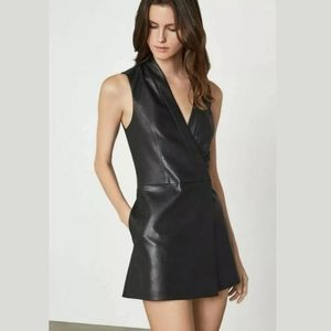 NWT BCBG maxazria Caryn Faux Leather Wrap Dress